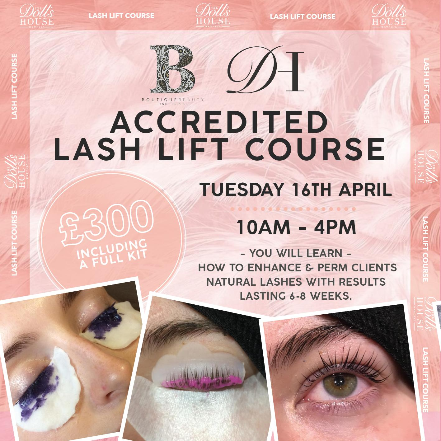 FULLY ACCREDITED LASH LIFT COURSE