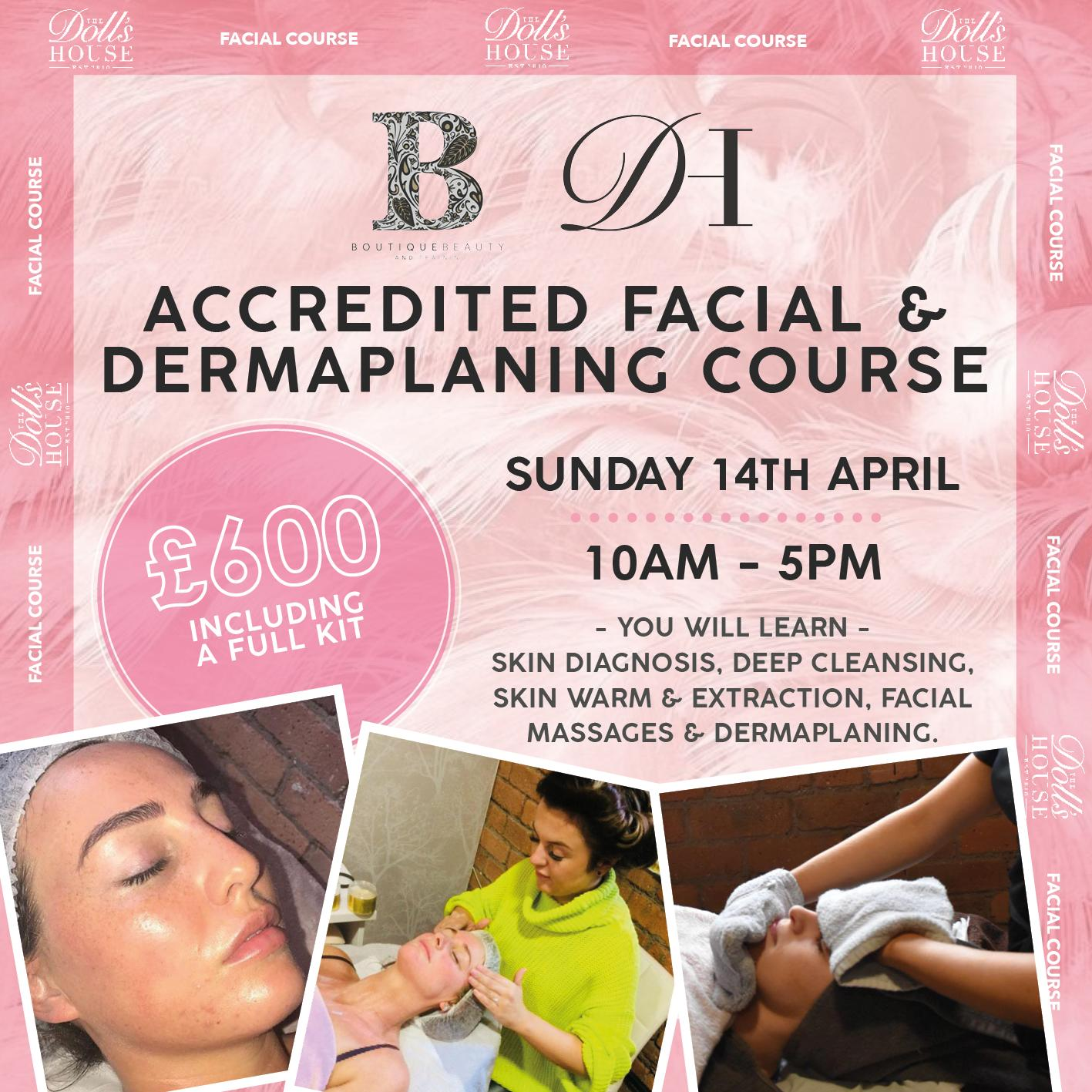 FULLY ACCREDITED DERMAPLANING COURSE