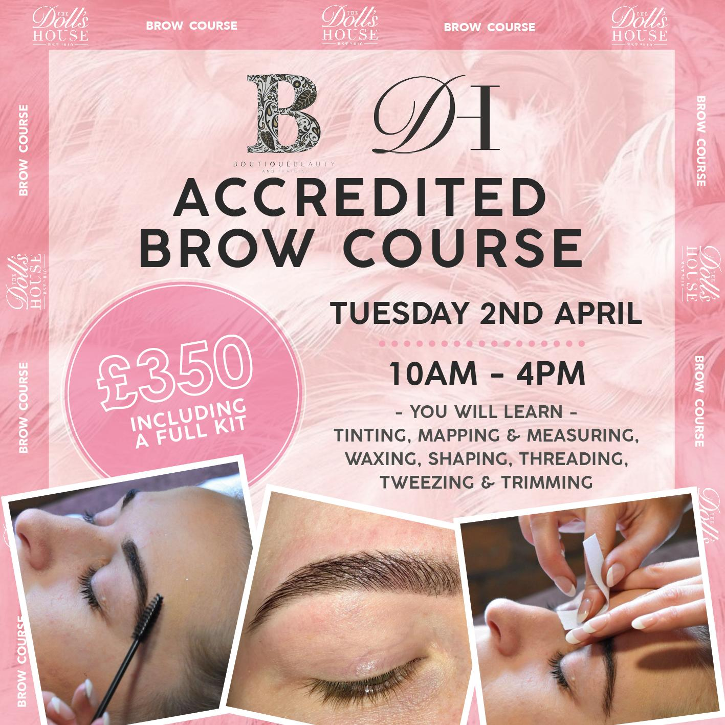 FULLY ACCREDITED BROW COURSE