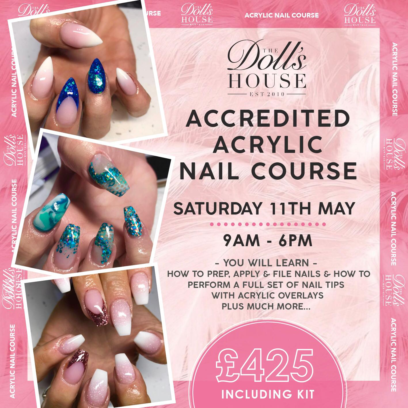 FULLY ACCREDITED ACRYLIC NAIL COURSE